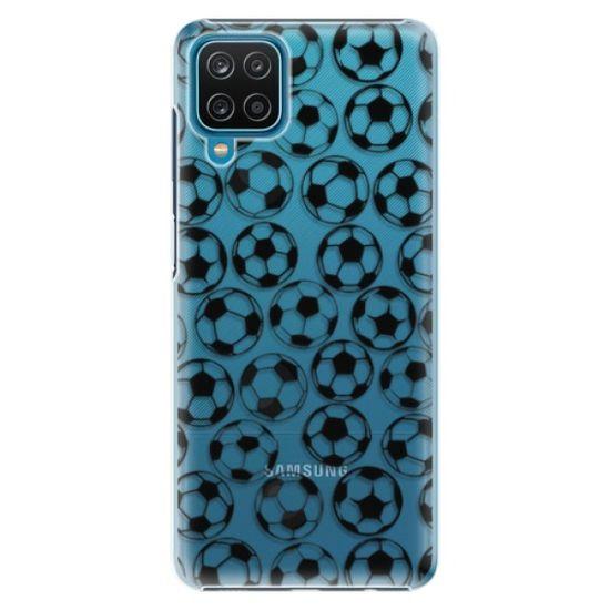 iSaprio Plastikowa obudowa - Football pattern - black na Samsung Galaxy A12