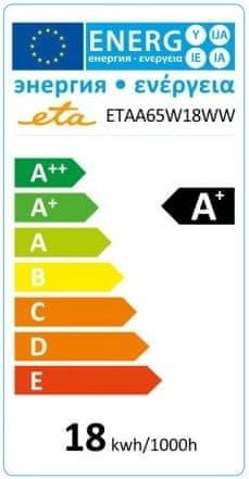 ETA LED žarulja, E27, 18 W, toplo bijela, 2700K, 1530 lm