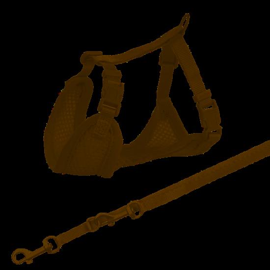 shumee Trixie Miękkie szelki dla szczeniąt ze smyczą Junior, 26–34 cm/10 mm, 2.00 m, jasnoszare