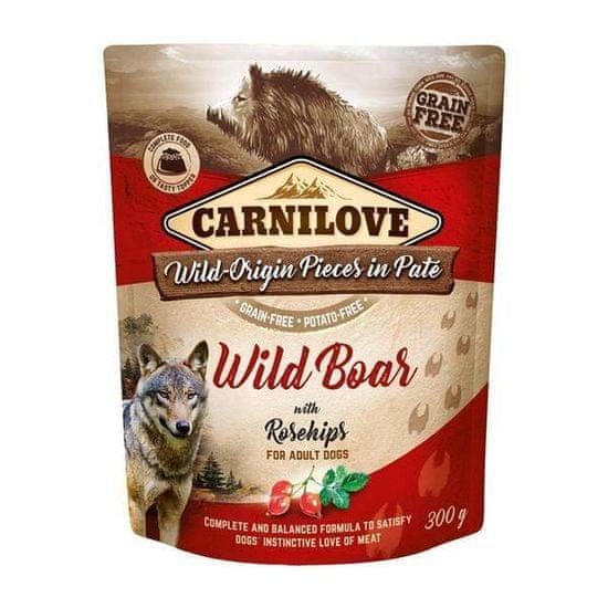 shumee CARNILOVE Wild Boar&Rosehips 300g - mokra karma Dzik z owocami dzikiej róży 300g