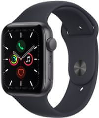 Apple Watch SE, 44 mm Space Grey Aluminium Case with Midnight Sport Band (MKQ63HC/A)