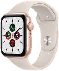 Apple Watch SE, 44 mm Gold Aluminium Case with Starlight Sport Band (MKQ53HC/A)