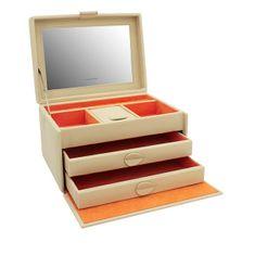 Friedrich Lederwaren Oblikovalna bež škatla za nakit Boho 20132-1