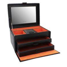 Friedrich Lederwaren Dizajn črna škatla za nakit Boho 20132-2