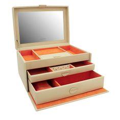 Friedrich Lederwaren Moderna bež škatla za nakit Boho 20133-1