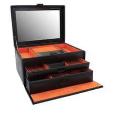 Friedrich Lederwaren Moderna črna škatla za nakit Boho 20133-2