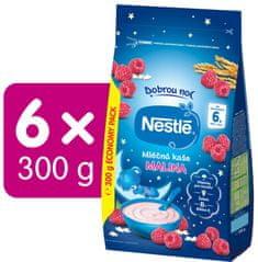 Nestlé Mléčná kaše Malina Dobrou noc, 6x 300 g