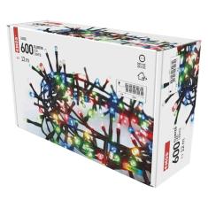 Emos LED božična veriga - jež, zunanja, 12 m, večbarvna, časovnik