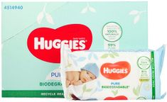 Huggies Pure Biodegradable 12 x 56ks
