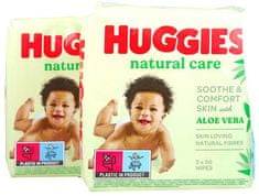 Huggies wipes PACK 2 x Natural Care Triplo 2 x 168ks