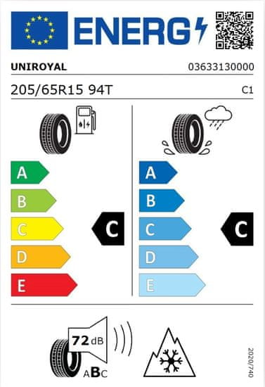 Uniroyal WinterExpert guma 205/65R15 94T, M+S