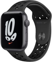Apple Watch Nike SE , 44mm Space Grey Aluminium Case with Anthracite/Black Nike Sport Band (MKQ83HC/A)