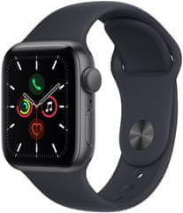 Apple Watch SE , 40mm Space Grey Aluminium Case with Midnight Sport Band (MKQ13HC/A)