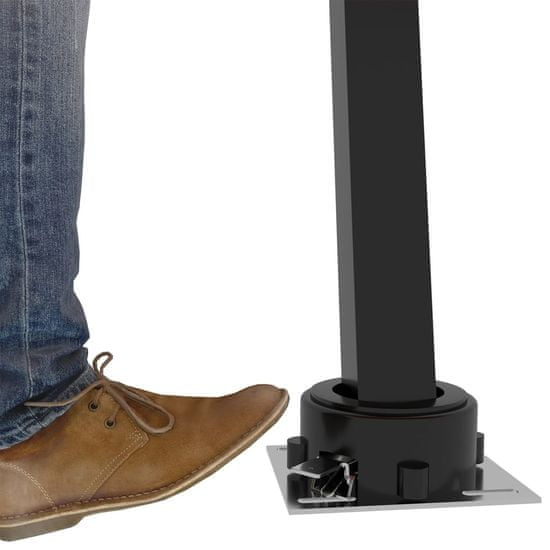 shumee Automatická markíza s LED a senzorom vetra 450x300 cm antracitová