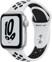 Apple Watch Nike SE, 40mm Silver Aluminium Case Pure Platinum/Black Nike Sport Band (MKQ23HC/A)