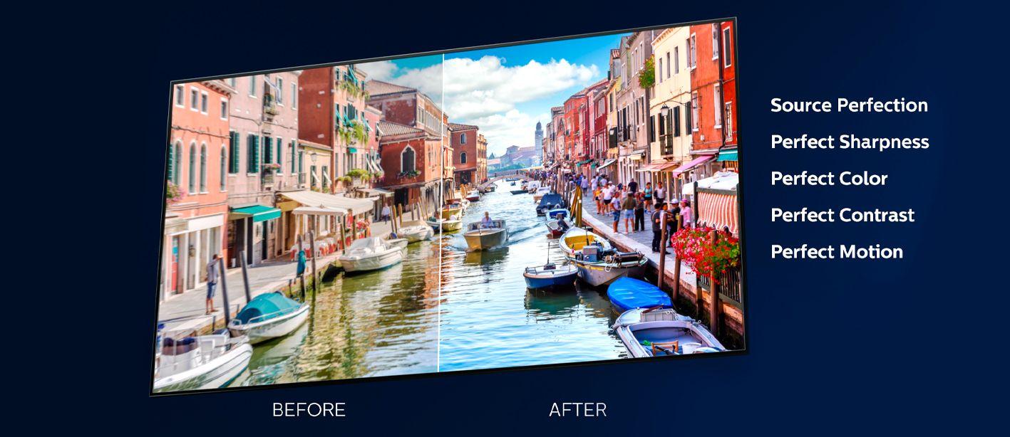Philips tv televizió OLED 4K 2021 Ambilight AI P5 procesor