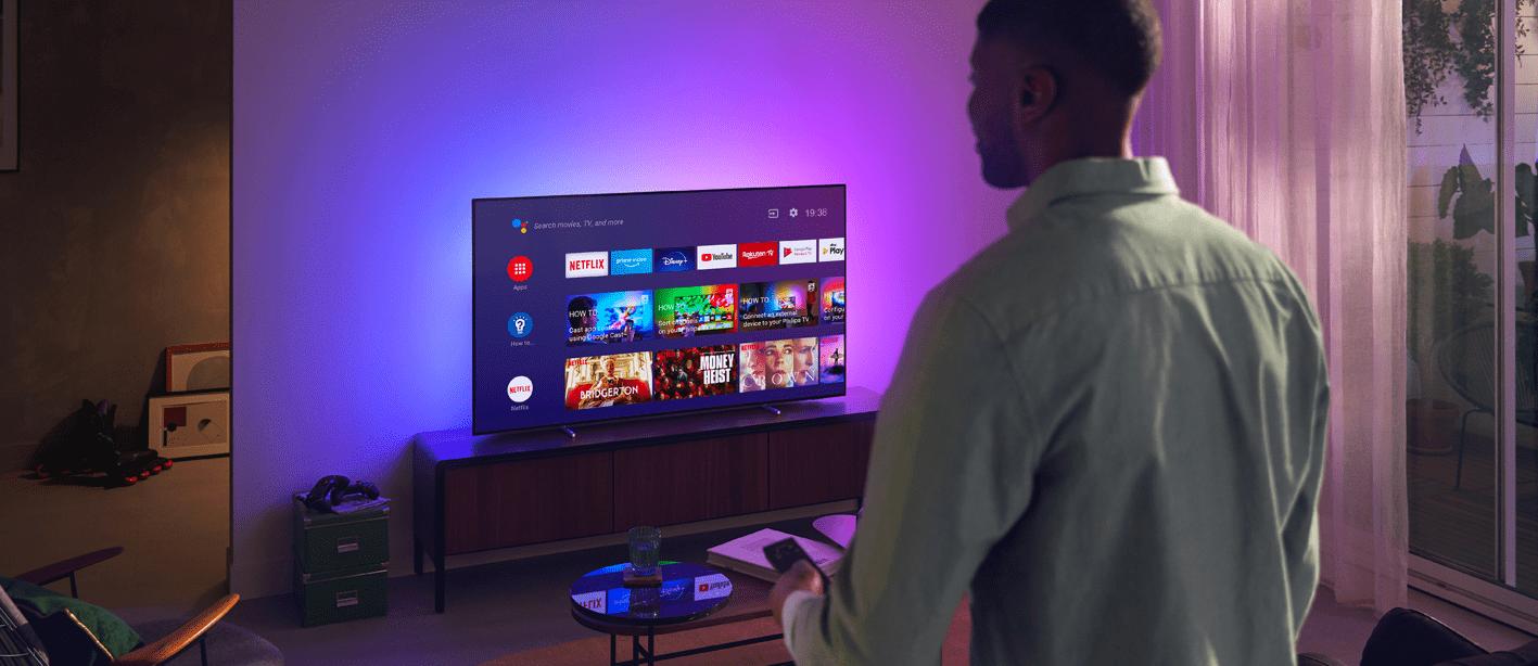 Philips tv televize OLED 4K 2021 Ambilight Android TV