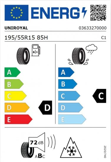Uniroyal WinterExpert guma 195/55R15 85H, M+S