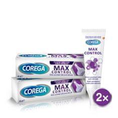 Corega fixační krém pro zubní náhradu Max Control 2x40g