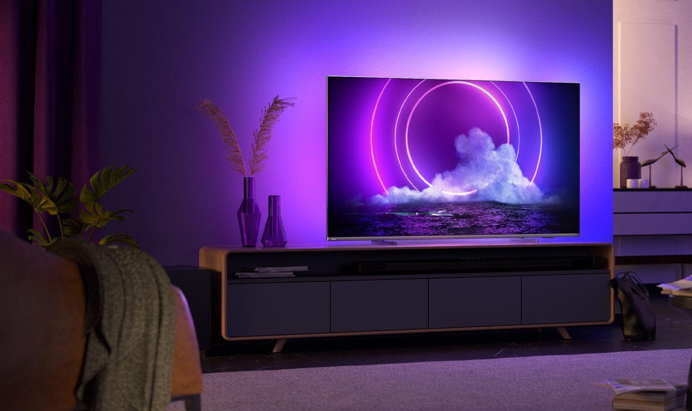 Philips tv televízió LED 4K 2021 Ambilight 100%  színmennyiség