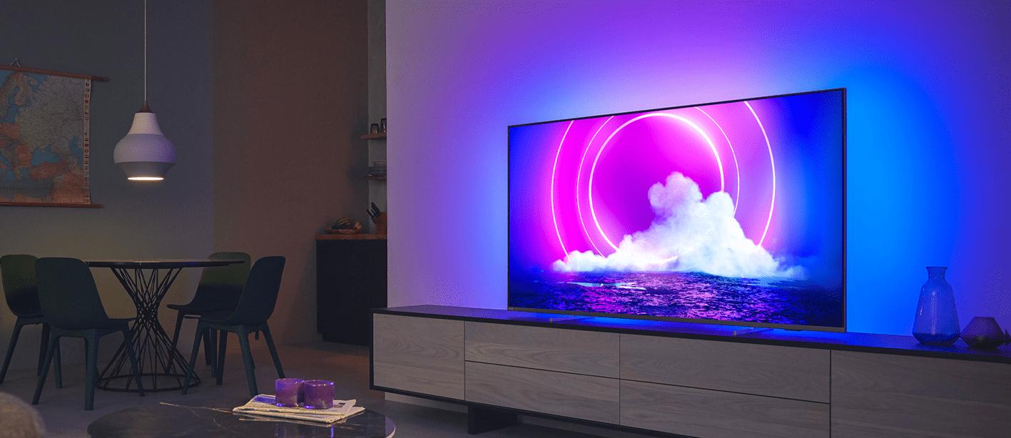 Philips tv televízió LED 4K 2021 Ambilight