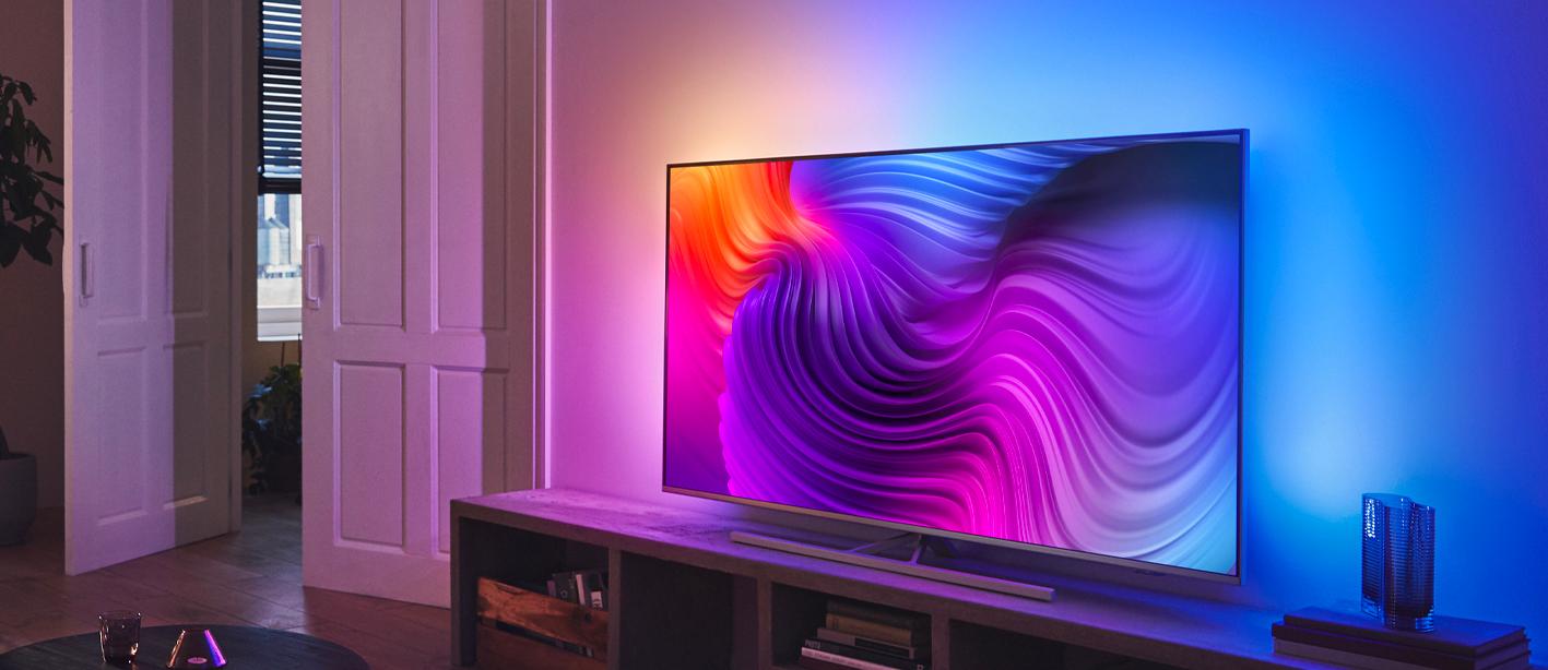 Philips tv televize LED 4K 2021 Ambilight