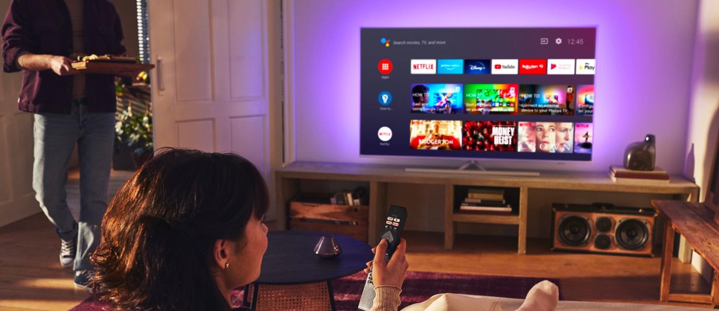 Philips tv televize LED 4K 2021 Ambilight Android TV