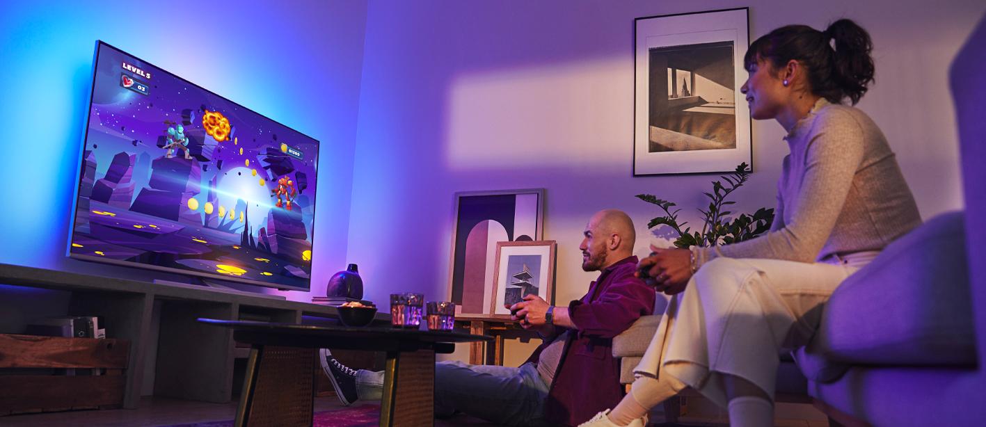Philips tv televize LED 2021 4K Ambilight freesync allm vrr