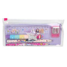 Top Model Písací set , 6ks; 2 ceruzky, pravítko, strúhadlo, bloček, guma