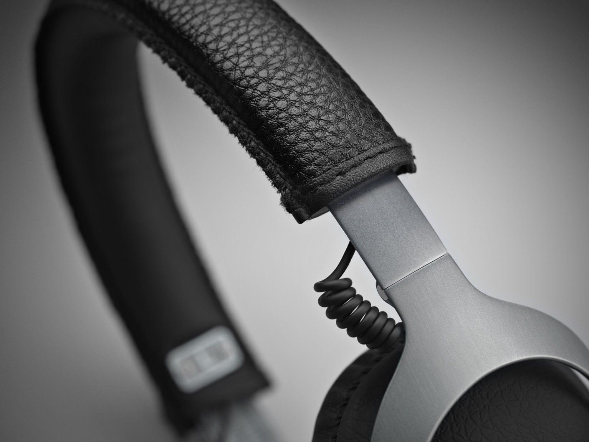 prenosné moderné slúchadlá marshall monitor Steel Edition káblové diaľkové ovládanie handsfree mikrofón skladacia konštrukcia ftf systém