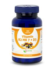 Natural Pharm Vitamín K2 MK-7 + D3 tablety 350 ks