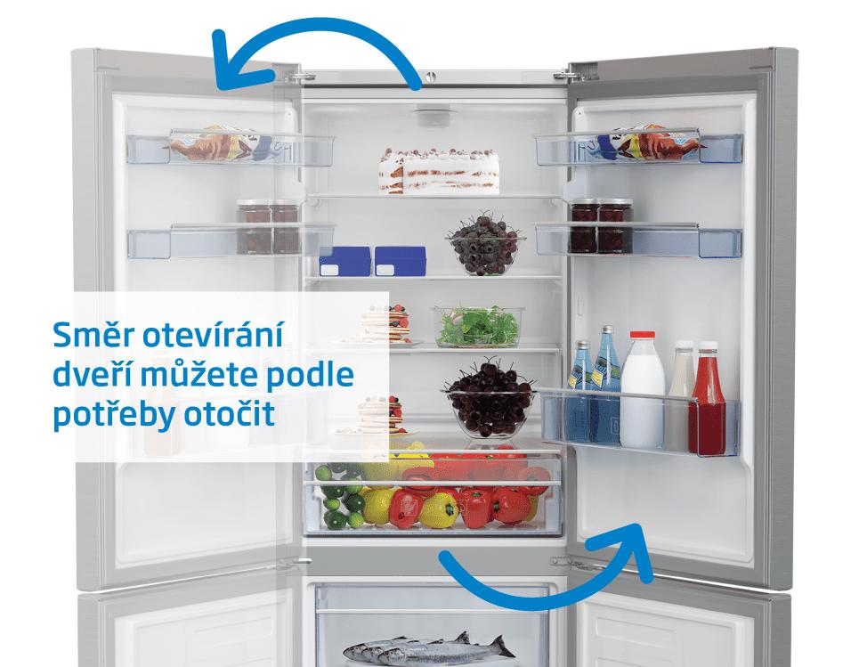 Beko lednice s mrazákem RCNE560E40ZXBN + 10 let záruky na kompresor