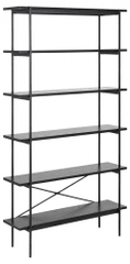 Design Scandinavia Nástenný regál Angus, 172 cm, čierna