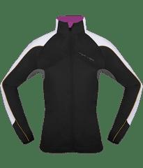 MAYA MAYA Ženska lahka nordijska jakna, softshell za tek, pohodništvo, treking, outdoor - Melesse jacket, črna, XL
