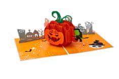 Magic Moments 3D přání Halloween Strašidelná dýně