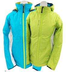 MAYA MAYA Obojestranska zimska ženska bunda - Hina Jacket, Primaloft Gold izolacija, zelena ali modra, XS