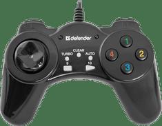 Defender žični igralni plošček Vortex USB, 13 gumbov, črn