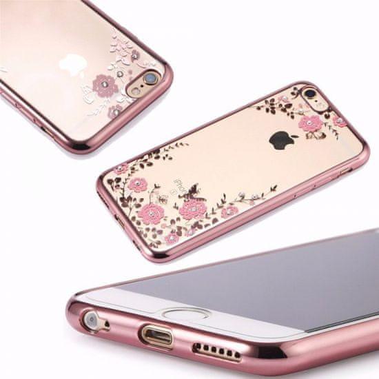 Futrola za Samsung Galaxy A22 A225 LTE, silikonska, s cvijećem, roza