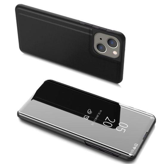 MG Clear View knižkové puzdro na iPhone 13 mini, čierne