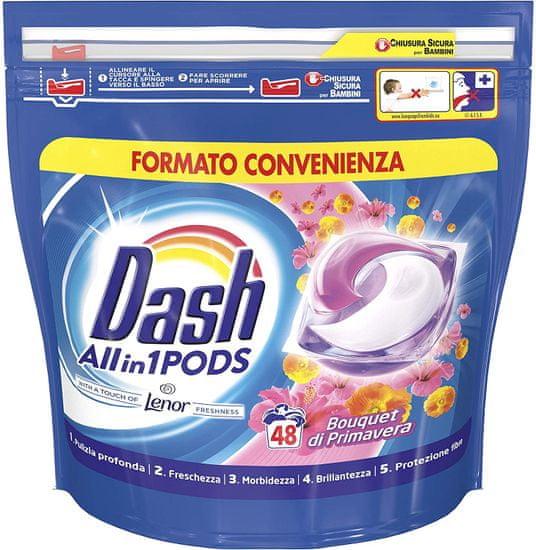Dash Spring Bouquet detergent v kapsulah, 48 kosov