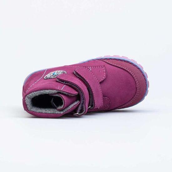 KOTOFEY Bordo-modri škornji iz pravega usnja, KOTOFEY