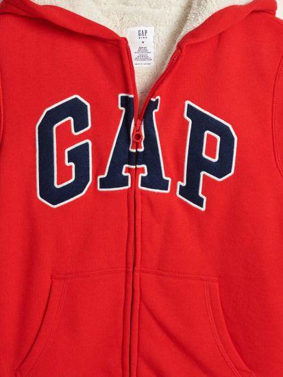 Gap Dětská zateplená mikina s logem