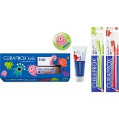 Curaprox Dárková sada dentální péče pro děti od 6-ti let s obsahem fluoridu Vodní meloun