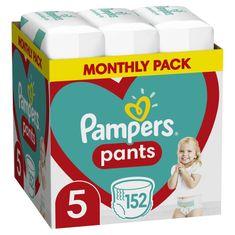 Pampers Plenkové kalhotky Pants 5 (12-17 kg) 152 ks - Měsíční balení