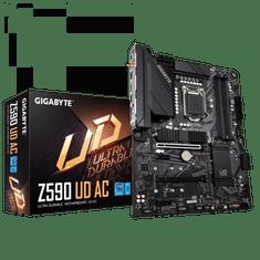 Gigabyte Z590 UD AC osnovna plošča, DDR4, SATA3, USB3.2Gen2, DP, Wi-Fi, LGA1200, ATX