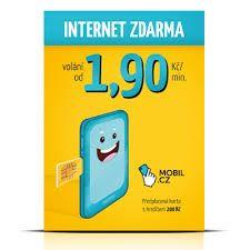 Nezarazeno Předplacená SIMkarta Mobil.cz s kreditem 200 Kč