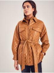 ICHI hnědý dámský lesklý kabátek L