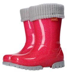 Demar Twister Lux G otroški gumijasti škornji, podloženi, roza, 26/27