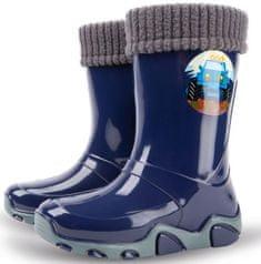 Demar Twister Lux D otroški gumijasti škornji, podloženi, temno modri, 22,5