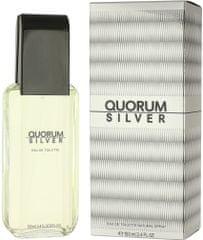 Antonio Puig Quorum Silver toaletní voda 100 ml Pro muže